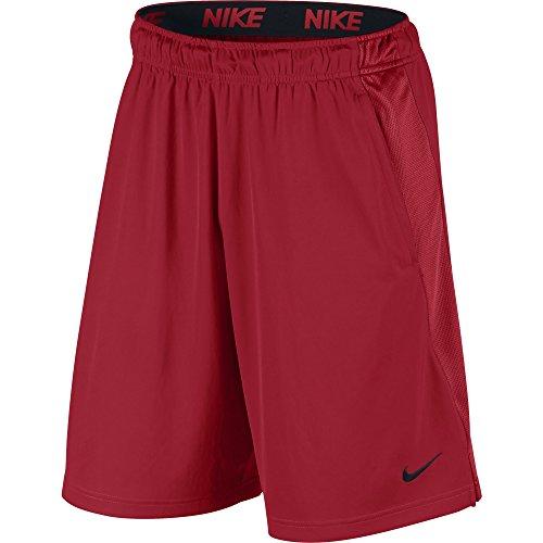 (NIKE Men's Dry Training Shorts, University Red/University Red/Black, Large)