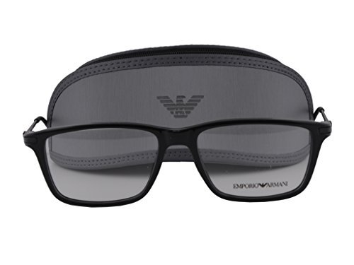717725eaa5 Image Unavailable. Image not available for. Colour  Emporio Armani EA 3063  Eyeglasses 55-16-140 Black 5017 EA3063