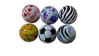 Fun Golf Balls 6 Pak for Women