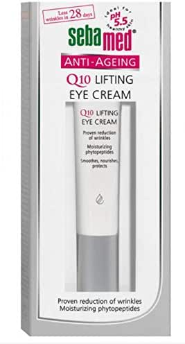 Sebamed Anti-Ageing Q10 Lifting Eye Cream with Botanical Phytosterols and lipid Complex, Visibly Reduces Appearance of Wrinkles. Paraben-Free, Dermatologist Tested & Dermatologist Developed