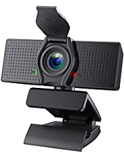 SAITOR 1080P Webcam with Microphone & Privacy Cover, Full HD Web Camera for Computers PC Laptop Desktop, USB Plug and Play, Conference Study Video Calling, Skype