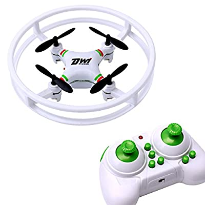 Dwi Dowellin mini drone 2.4Ghz 4CH 6-Axis Gyro RC mini quadcopter UFO Aircraft Anti-collision nano drones for beginners kids D1 White