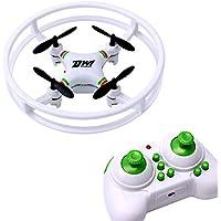 Dwi Dowellin mini drone 2.4Ghz 4CH 6-Axis Gyro RC Smal Quadcopter UFO Aircraft Anti-collision Nano Drones For Beginners Kids D1 White