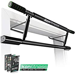 Ikonfitness Pull Up Bar with Smart Larger Hooks Technology [2019 Upgrade] - USA Original Patent, USA Designed, USA Shipped, USA Warranty