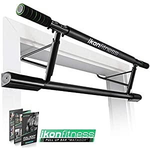 Ikonfitness Pull Up Bar with Smart Larger Hooks Technology – USA Original Patent, USA Designed, USA Shipped, USA Warranty