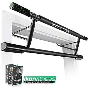 Ikonfitness Pull Up Bar with Smart Larger Hooks Technology – USA Original Patent, USA Designed, USA Shipped, USA Warranty