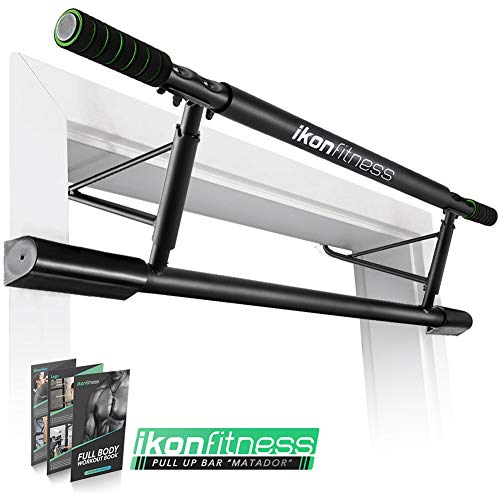Ikonfitness Pull Up Bar with Smart Larger Hooks Technology 2019 Upgrade – USA Original Patent, USA Designed, USA Shipped, USA Warranty