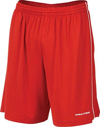 Rawlings Youth Tenacity Training Shorts, X-Large, Scarlet