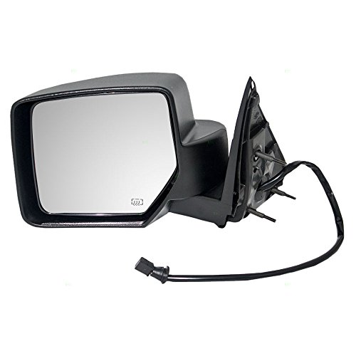 - Drivers Power Side View Mirror Heated Textured Replacement fits 08-12 Jeep Liberty SUV 57010185AF CH1320287 AutoAndArt