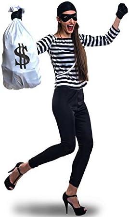Disfraz de Ladrona para mujer: Amazon.es: Juguetes y juegos