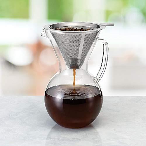 Polder – Cafetera con filtro de acero inoxidable sin papel