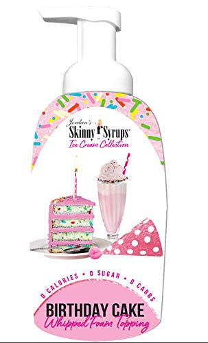 Jordans Skinny Gourmet Syrups Barista Style Whipped Foams (Birthday Cake)