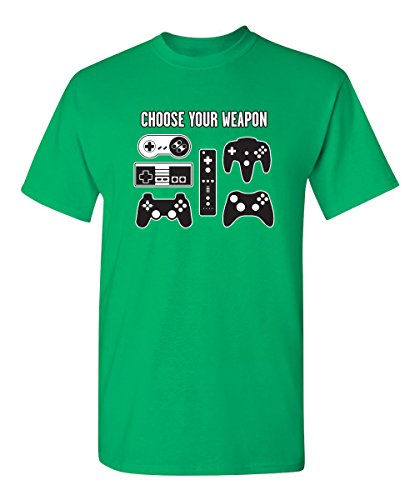 Choose Your Weapon Graphic Cool Novelty Funny Youth Kids T Shirt YL Irish ()