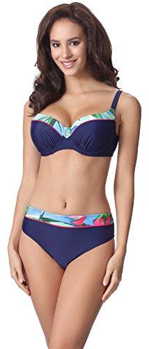 Merry Style Bikini Conjunto para mujer P19081MC Navy/Flor