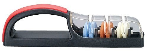 Japanese Minosharp 3 Global Ceramic Water Knife Sharpener No.550 Black Red Japan ()