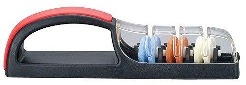 Japanese Minosharp 3 Global Ceramic Water Knife Sharpener No.550 Black Red Japan