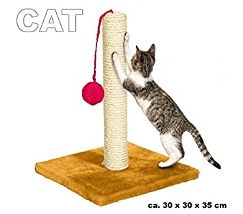 Rascador de sisal con base de madera para gatos - Juguete para mascotas: Amazon.es: Deportes y aire libre