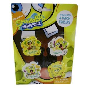 Spongebob Jr Squarepants Nick - Nick Jr Spongebob Squarepants Erasers - Personalized 4pack Erasers