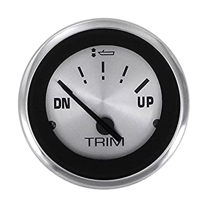 Sierra International 64475P Sterling Outboard Up - Down Dial Range Scratch  Resistant Trim Gauge for Honda, 2