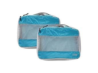 Lewis N Clark Electrolite Medium Expandable Packing Cube (2 Pack, Bright Blue)