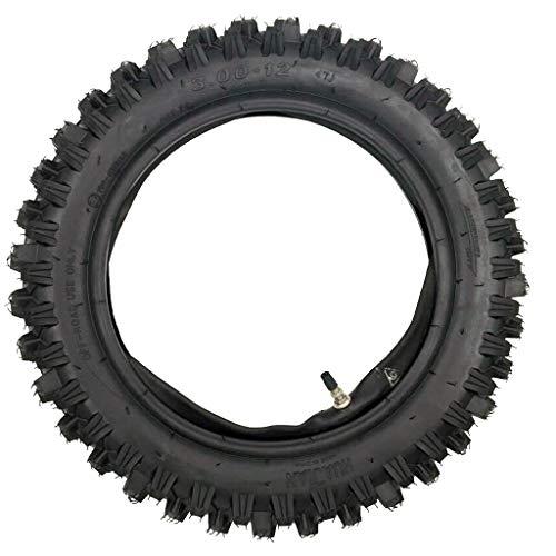 ZXTDR 80/100-12 Tire and Inner Tube for Motocross Pit PRO Trail Dirt Bike | 3.00-12 Off Road Motorcycle Tire