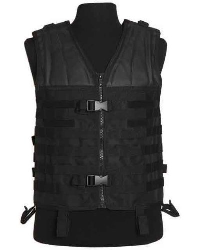 Mil-Tec MOLLE Carrier Vest Black by CamoOutdoor