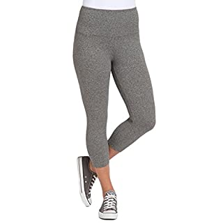 Lyssé Women's Cotton-Blend Capri Legging, Salt/Pepper, XS