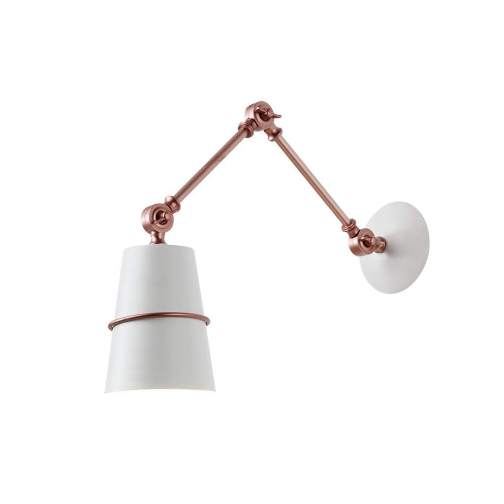 Einstellbare Wandleuchte, Postmodern Kreative Einfache Wandleuchte Persönlichkeit Lange Arm Versenkbare Studie Schlafzimmer Nachttischlampe Gang Faltwand Lampe (Farbe   Weiß)