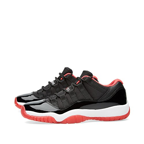 Nike Air Jordan 11 Retro Low Bg, Zapatillas de Baloncesto para Niños Negro / Rojo / Blanco (Black / True Red-White)