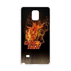 Miami Heat Samsung Galaxy Note 4 Cell Phone Case White Q6989656