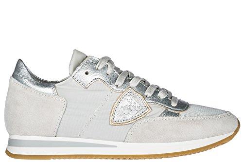 Philippe Model Scarpe Sneakers Donna Camoscio Nuove Tropez Grigio EU 38 TRLDW003