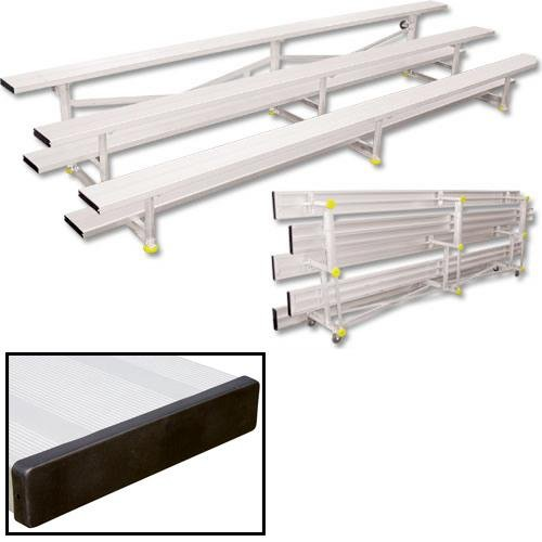 30-Seat Capacity Tip-N-Roll Bleachers with Three Rows by Athletic Connection