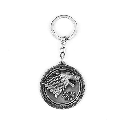Key Chains - Game of Thrones Shield Keychain Wolf Head Logo House Stark Maxi Keychain Men Car Accessories Wolf Head Keyrings - by YPT - 1 PCs