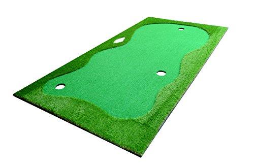 (77tech Large Artificial Grass Golf Putting Green Mat Indoor/Outdoor Golf Training Aid Equipment Mat (5x10ft))