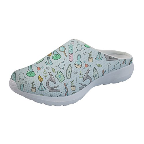 Coloranimal Summer Women's Garden Clogs Comfortable Sports Slip On Sandals Footwear Science Pattern-4 8VIdRCb