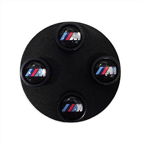 BMW Genuine M Logo Wheel Tire Valve Stem Caps Black
