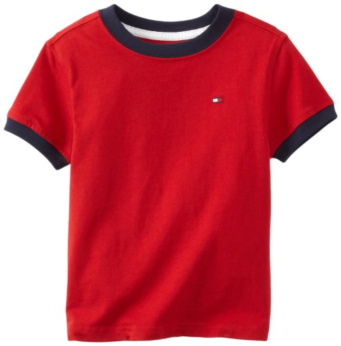 Tommy Hilfiger Little Boys' Core Crew Neck Ken Tee, Regal Red, 4/Regular (Tommy Hilfiger Boy 4)
