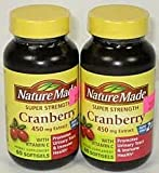 Nature Made Super Strength, Cranberry (450 Mg Extract) with Vitamin C, 60 Softgels 2 PACK Review