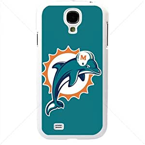 NFL American football Miami Dolphins Fans Samsung Galaxy S4 SIV I9500 Soft Black or White case (White)