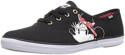 Print Keds Shoe (Keds Women's Champion Minnie Placement Fashion Sneaker (4 B(M) US, Black))