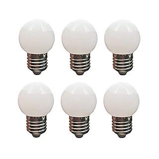 LED G14 Light Bulb 1W Soft White 3000K Not Dimmable LED Energy Saving Light Bulbs 10 Watt Equivalent LED Lights for Home E26 6 Pack