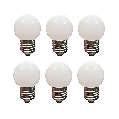 LED G14 Light Bulb 1W Soft White 3000K Not Dimmable LED Energy Saving Light Bulbs 10 Watt Equivalent LED Lights for Home E26 6 Pack(1W-E26-Soft White-3000K) (Best Light Bulb Wattage)