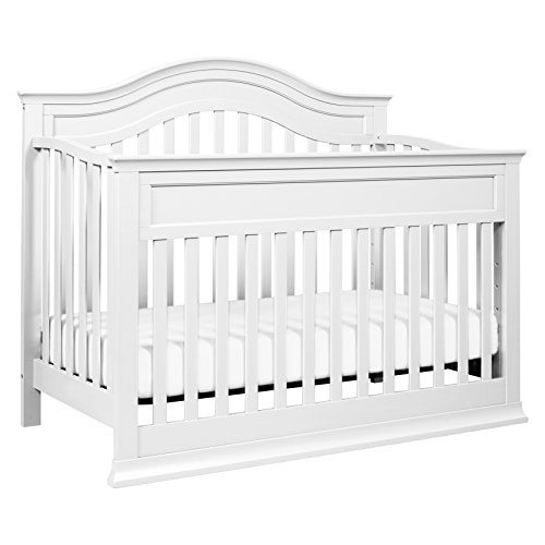 DaVinci Brook 4-in-1 Convertible Crib With Toddler Bed Conversion Kit, White