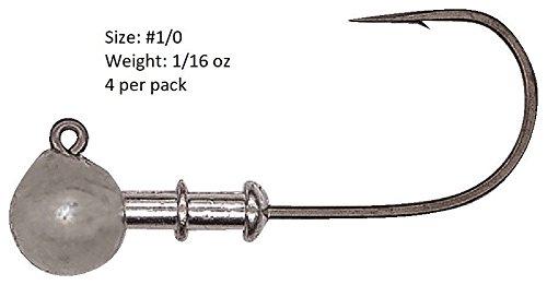1 Round Jig (Hayabusa FPJ960 Multi-Use Round Jig Head - 1/0 - 1/16 oz, 4pk)