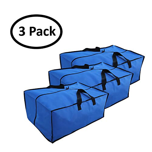 Earthwise Extra Large Storage Bag Moving Tote Heavy Duty 600D Nylon - Multi Use for Storing & Transporting (Pack of 3) by Earthwise