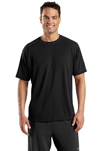 Sport-Tek - Raglan Sleeve T-Shirt with Wicking and Anti-Microbial Treatments. T473 - X-Large - Black