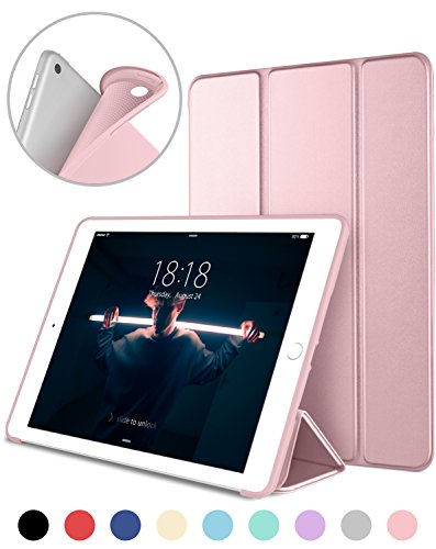 DTTO New iPad 2017 iPad 9.7 Inch Case, Ultra Slim Lightweight Smart Case Trifold Cover Stand with Flexible Soft TPU Back Cover for iPad Apple New iPad 9.7-inch [Auto Sleep/Wake]