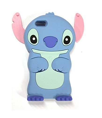 """VOCOX 3d Disney Stitch Movable Ear Flip Soft Silicon Case Cover Compatible for Apple iphone 6 4.7"""" (Blue) Xmas Gift"""