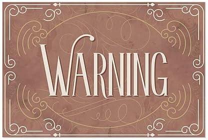 30x20 5-Pack Warning CGSignLab Victorian Card Window Cling