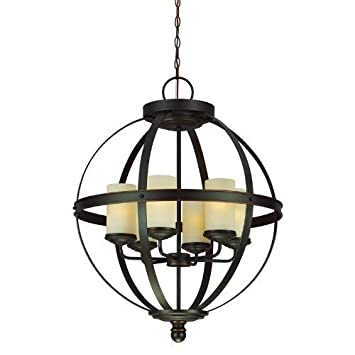 Sea Gull Lighting 3190406-715 Six 3190406-715-Six Light Chandelier